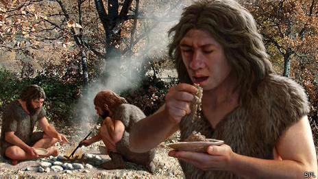 Cavernicola comiendo