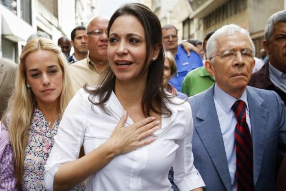 Maria Corina Machado se presentó en Fiscalía