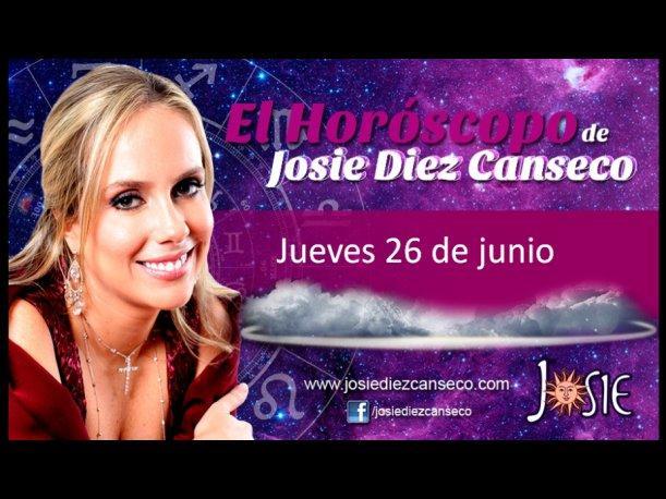 Josie Diez Canseco: Horóscopo del jueves 26 de junio (VIDEO)