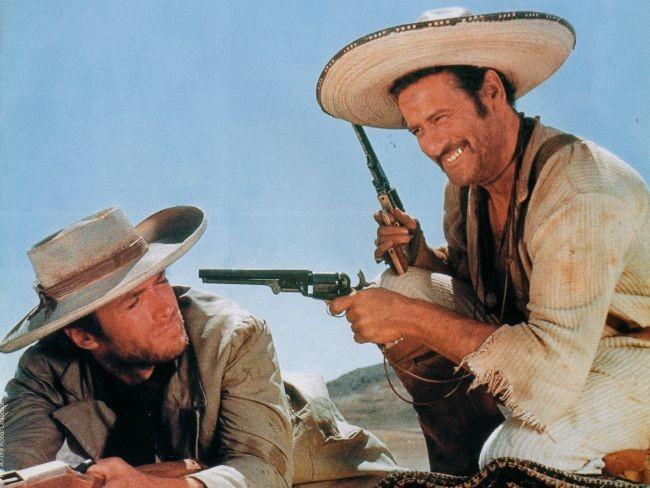 Eli Wallach y Clint Eastwood en El Bueno el Feo y el Malo