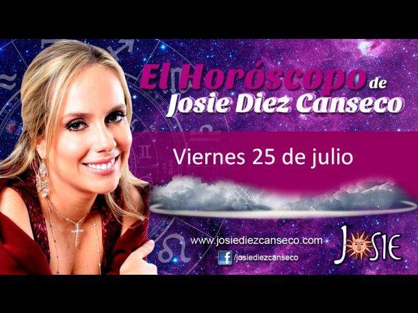 Josie Diez Canseco: Horóscopo del viernes 25 de julio (VIDEO)