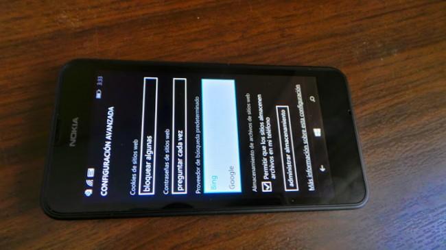 lumia 630 google bing