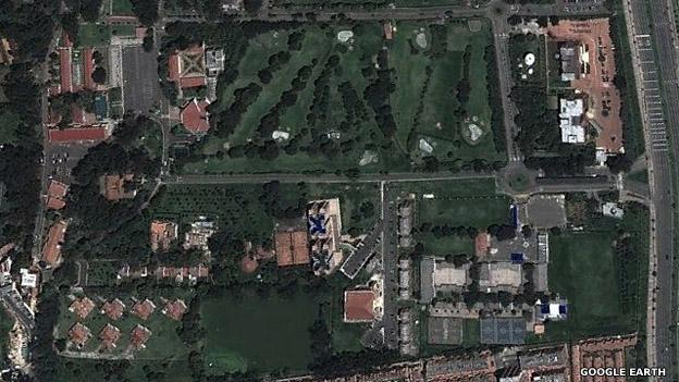 Vista aérea del Centro de Estudios Superiores de la Policía de Colombia (CESPO), donde tiene su residencia el expresidente Uribe.