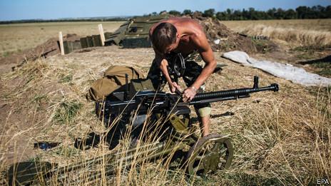 Soldado ucraniano en Lugansk