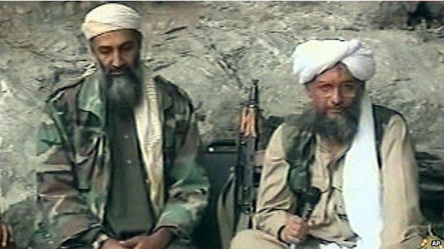 Ayman al Zawahari y Bin Laden