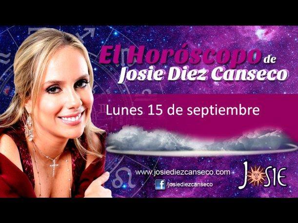 Josie Diez Canseco: Horóscopo del lunes 15 de septiembre (VIDEO)