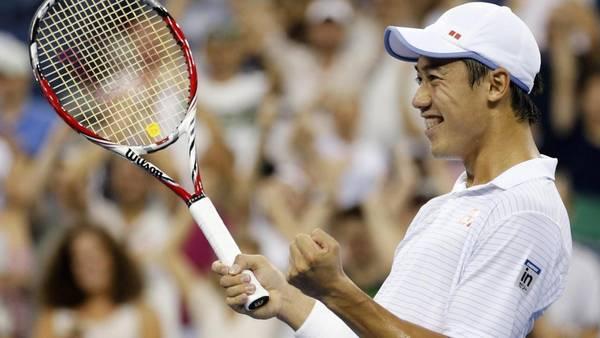 El japonés Kei Nishikori, décimo cabeza de serie, alcanzó por primera vez los cuartos de final el Abierto de Estados Unidos. (REUTER)