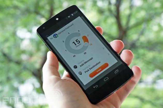 El teclado Glympse permite compartir tu ubicación desde cualquier aplicación de Android