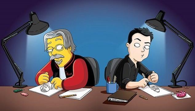 imagen Los creadores de 'Los Simpsons' y 'Padre de familia' se dibujaron el uno al otro (FOTOS)