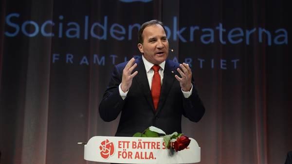El socialdemócrata Stefan Lofven, ganador de las elecciones parlamentarias. /AP