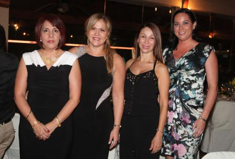 Lizzye Palenque, Cecilia Zelaya, Martha Cristina Franco y Katherine Spiegel