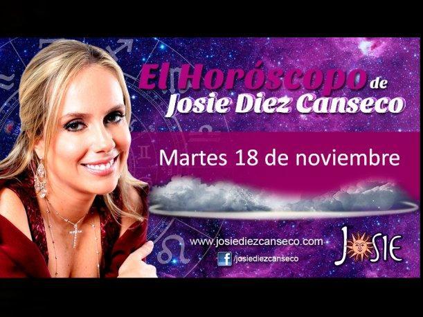 Josie Diez Canseco: Horóscopo del martes 18 de noviembre (VIDEO)