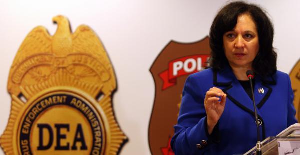 Michele Leonhart,  directora de la agencia antidrogas estadounidense DEA