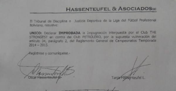 Esta fue la carta que mandó el Tribunal a la secretaría de Petrolero