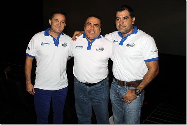Fernando López, Luciano Escobar y Anibal Casanovas