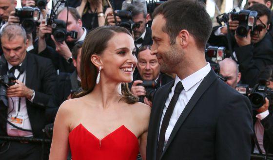 Natalie Portman y su marido Benjamin Millepied.