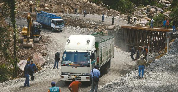Chapare. Este sector no está aún habilitado para el servicio del transporte pesado. Solo pasan los livianos