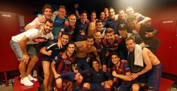 El barcelona logró un triunfo importante en la primera semifinal de la Champions. Así lo festejaron