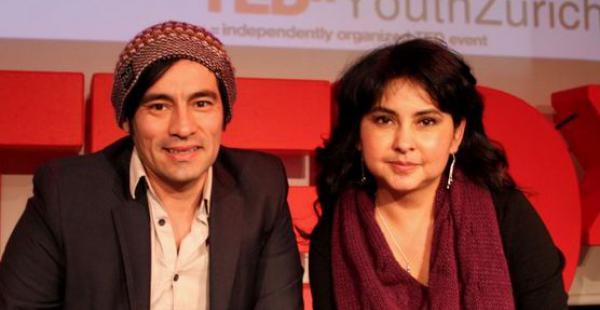 Héctor Alvarez y Patricia Lucero fundadores de la empresa 'beyondBeanie'.