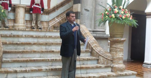 El ministro de la presidencia Juan Ramón Quintana