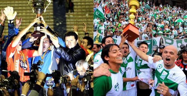 Blooming fue campeón en 2009 del torneo Clausura. Oriente alzó la copa en 2010