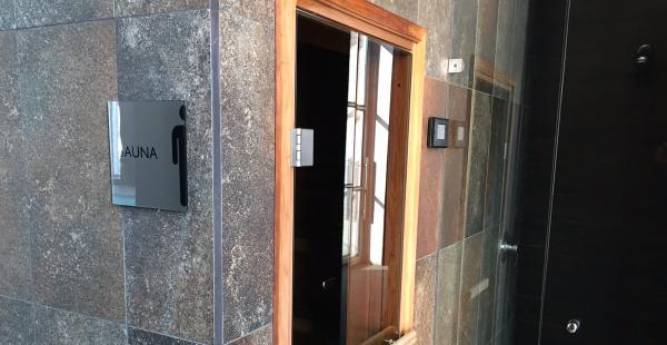 Este es el sauna del hotel Hilton Garden Inn Airport en Chile donde los jugadores podrán relajarse