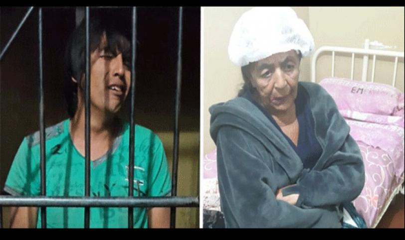 HERIDA. El hombre fue detenido en celdas policiales y ella fue hospitalizada.