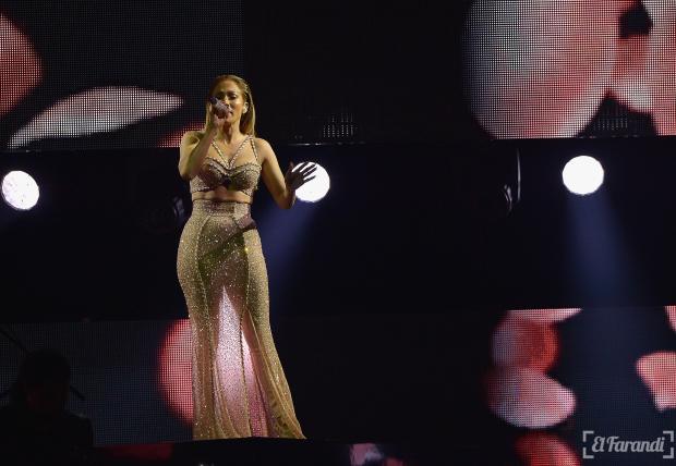 MIAMI, FL - APRIL 30: Jennifer Lopez performs musical tribute to Selena performs onstage at the 2015 Billboard Latin Music Awards presented bu State Farm on Telemundo at Bank United Center on April 30, 2015 in Miami, Florida.   Rodrigo Varela/Getty Images/AFP