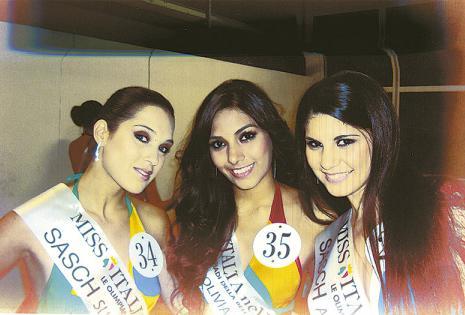 Quedó entre las 10 finalistas del certamen. El Miss Italia fue su primer concurso de belleza