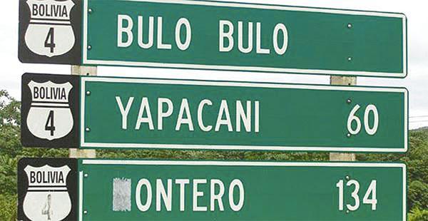 La localidad de Bulo Bulo es el ingreso al trópico de Cochabamba