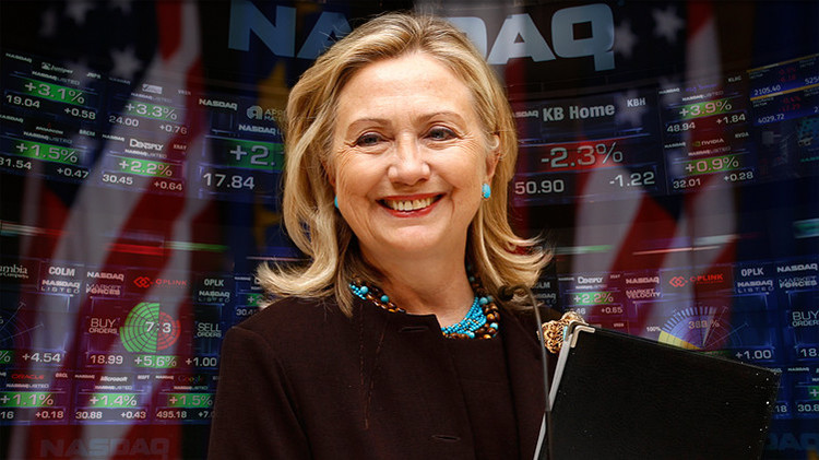 Hillary Clinton enseña como derrumbar las acciones de emprezas farmacéuticas a través de Twitter