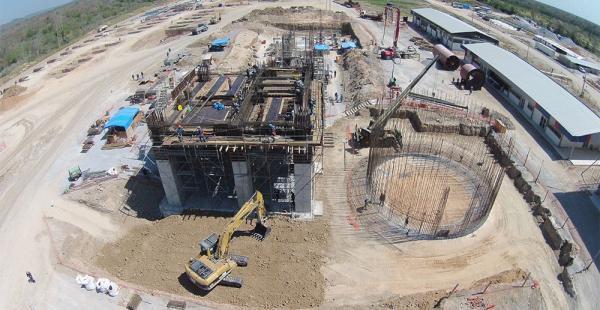 La construcción de la planta tiene un avance del 70%