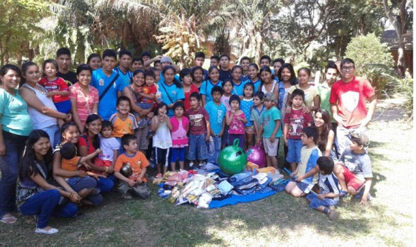 GRUPO. Desde muy pequeños hasta los 17 años, el albergue acoge a 25 niños y adolescentes con problemas sociales.
