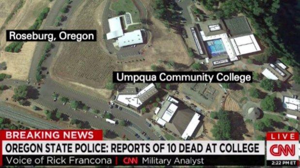 Tiroteo en EE.UU.: Al 10 muertos en un instituto de Oregon