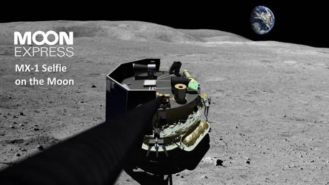 Moon Express Lunar Lander Selfie Photo