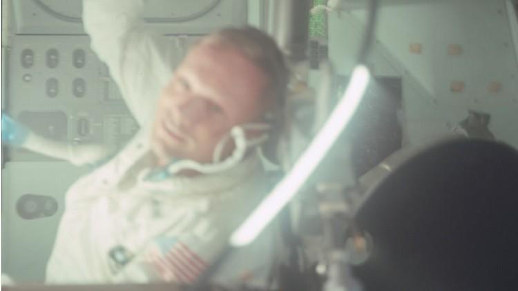 Un astronauta estadounidense de una de las misiones del Apolo