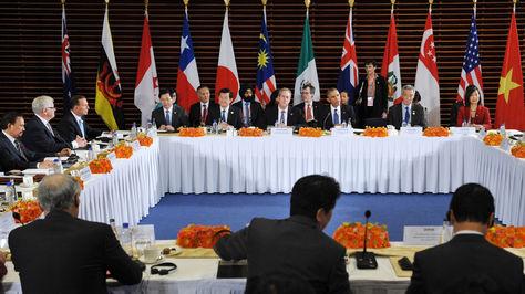 Barack Obama en una reunión con los líderes de la Alianza Trans-Pacífico (TPP) en la Embajada de Estados Unidos en Beijing. Foto: Archivo-AFP