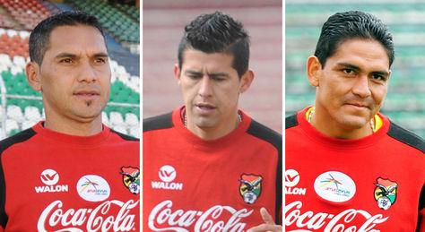 Vaca, Arce y Zenteno de la selección boliviana