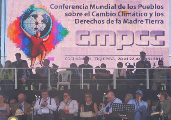 Participantes de la Primera Cumbre Climática en Tiquipaya, en 2010. - José Rocha Los Tiempos