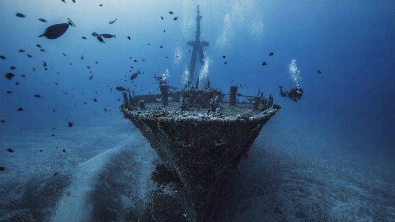 Buceo por el barco naufragado Hai Siang, cerca de la Isla Reunión