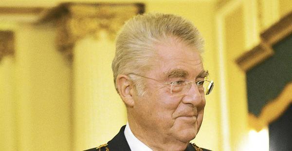 Heinz Fischer, presidente de Austria, estuvo en Bolivia