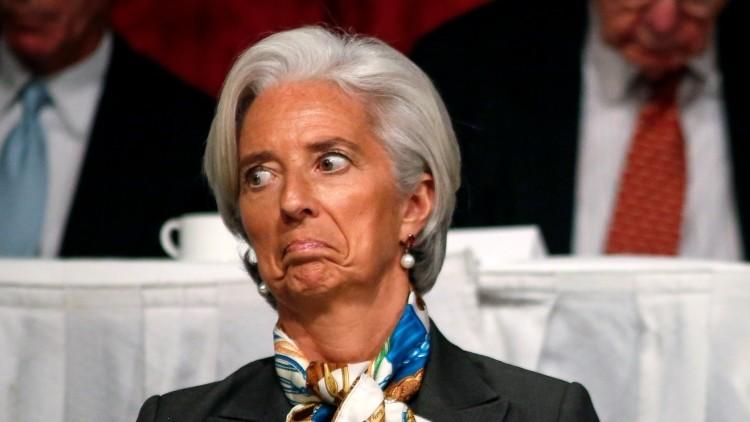 La directora del FMI, Christine Lagarde, asiste a una reunión del Club Económico de Nueva York, en EE.UU.