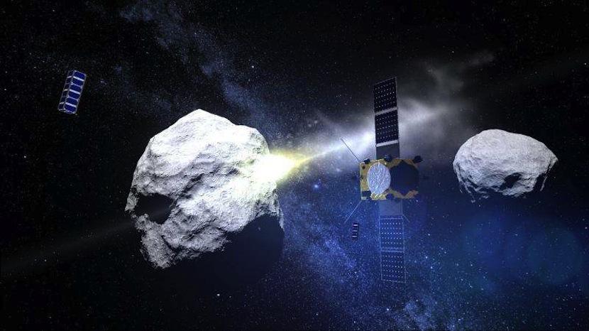 nasa NASA y ESA desviarán asteroides a cañonazos