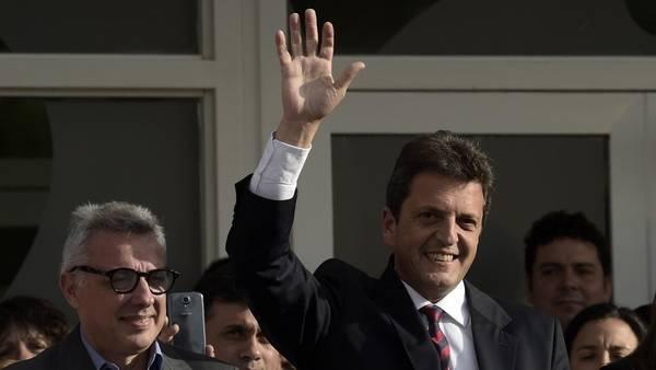 Contrataque. Sergio Massa respondió al desafío de Mauricio Macri instándolo a un nuevo debate