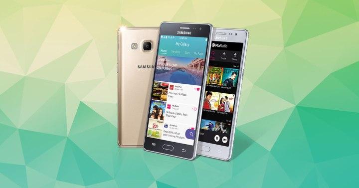 Samsung Z3 con fondo verde