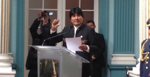 El primer mandatario inauguró la VI reunión anual de embajadores de Bolivia en el mundo.