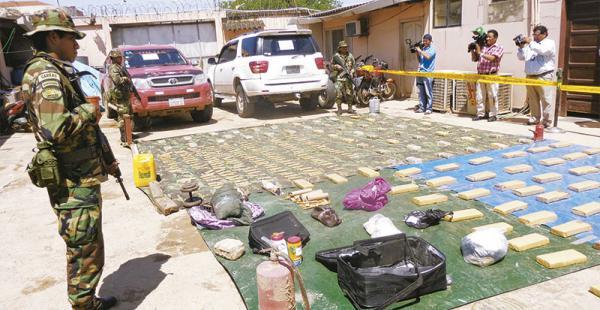 La droga confiscada la semana pasada será incinerada en un acto público próximamente, informaron fuentes de la unidad antidroga