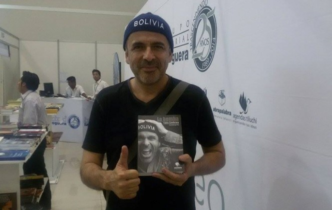 """Fabio Zambrana presenta libro autobiográfico """"La Bomba"""" en la Feria del Libro de Cochabamba"""