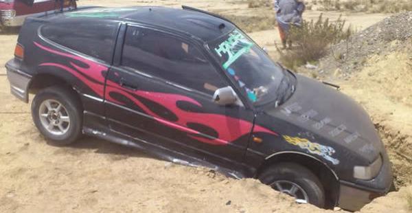 El motorizado fue encontrado abandonado en una zona de la ciudad de El Alto y la Policía continúa con las investigaciones.