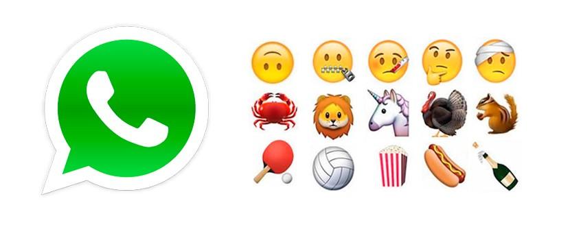 150 nuevos iconos whatsapp 830x347 WhatsApp amplia su catálogo de iconos en 150
